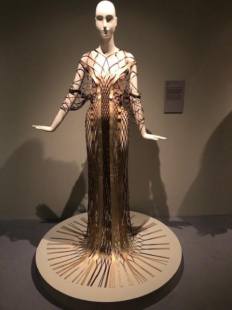 dress made from Salvatore Ferragamo shoe scraps