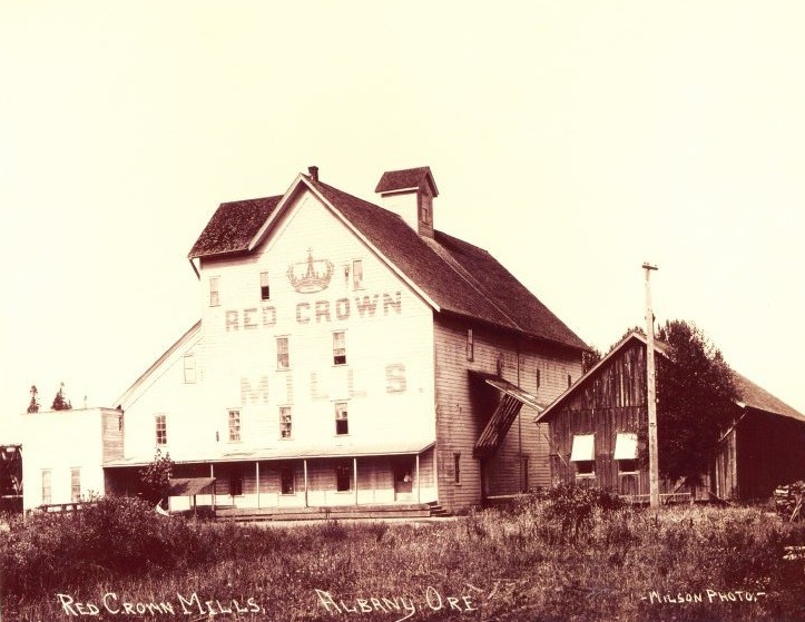 Red Crown Mill, Albany Oregon c.1900's. Albany Regional Museum Collection ID: 2003-129-002