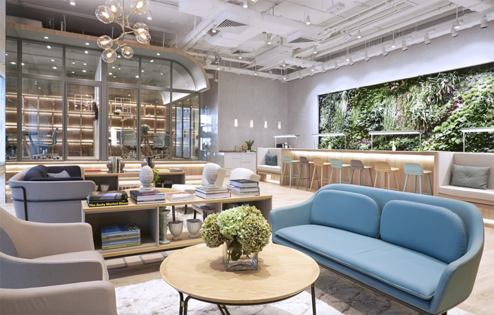 The Work Project in Hong Kong, China   Created by hoteliers who know the ins and outs of hospitality,  The Work Project  in Hong Kong feels more like a luxury resort than it does an office (and we mean that in a good way!). Ergonomically designed and beautifully decorated, The Work Project pulls out all the stops for its members, including custom-blended tea, a customized music selection, mail handling, and a carefully curated daily food selection.