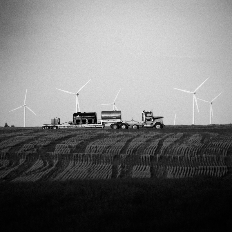 Truck and windmills, Wasco County #12, Apr 2017