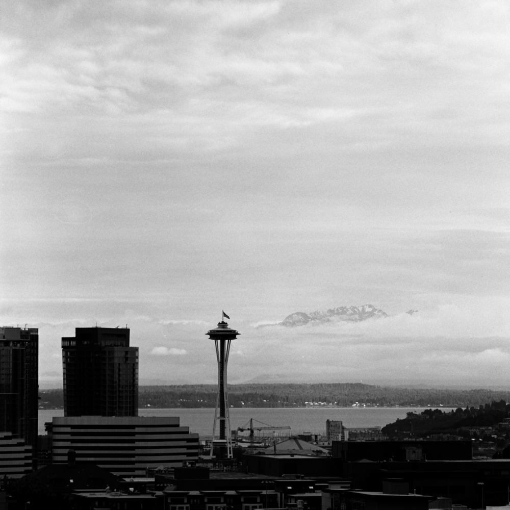 Space Needle and Olympic Mountains, Jun 2017
