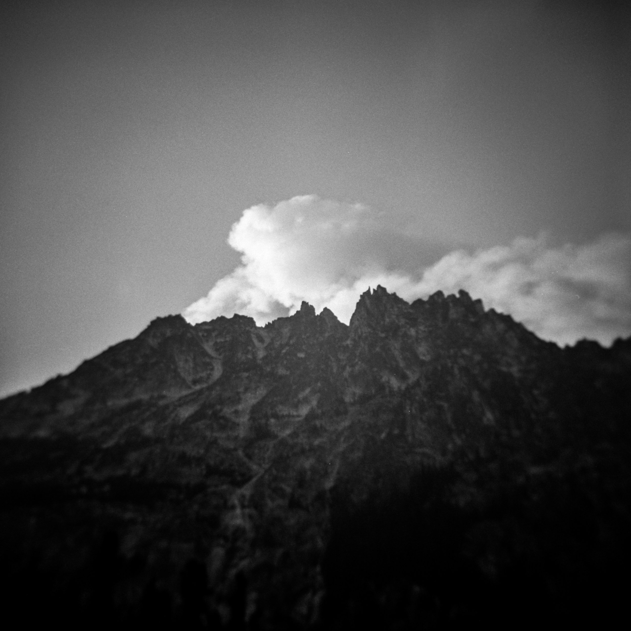 Smoke from wildfires, Alpine Lakes Wilderness, September 2017
