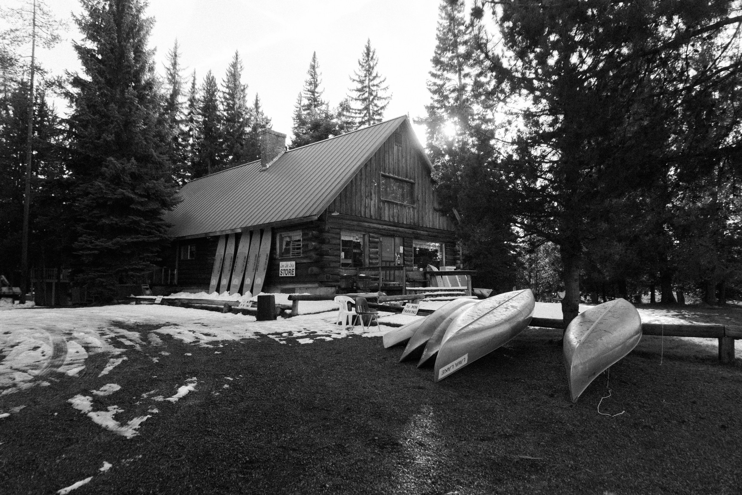 Lava Lake campground store, closed for the season