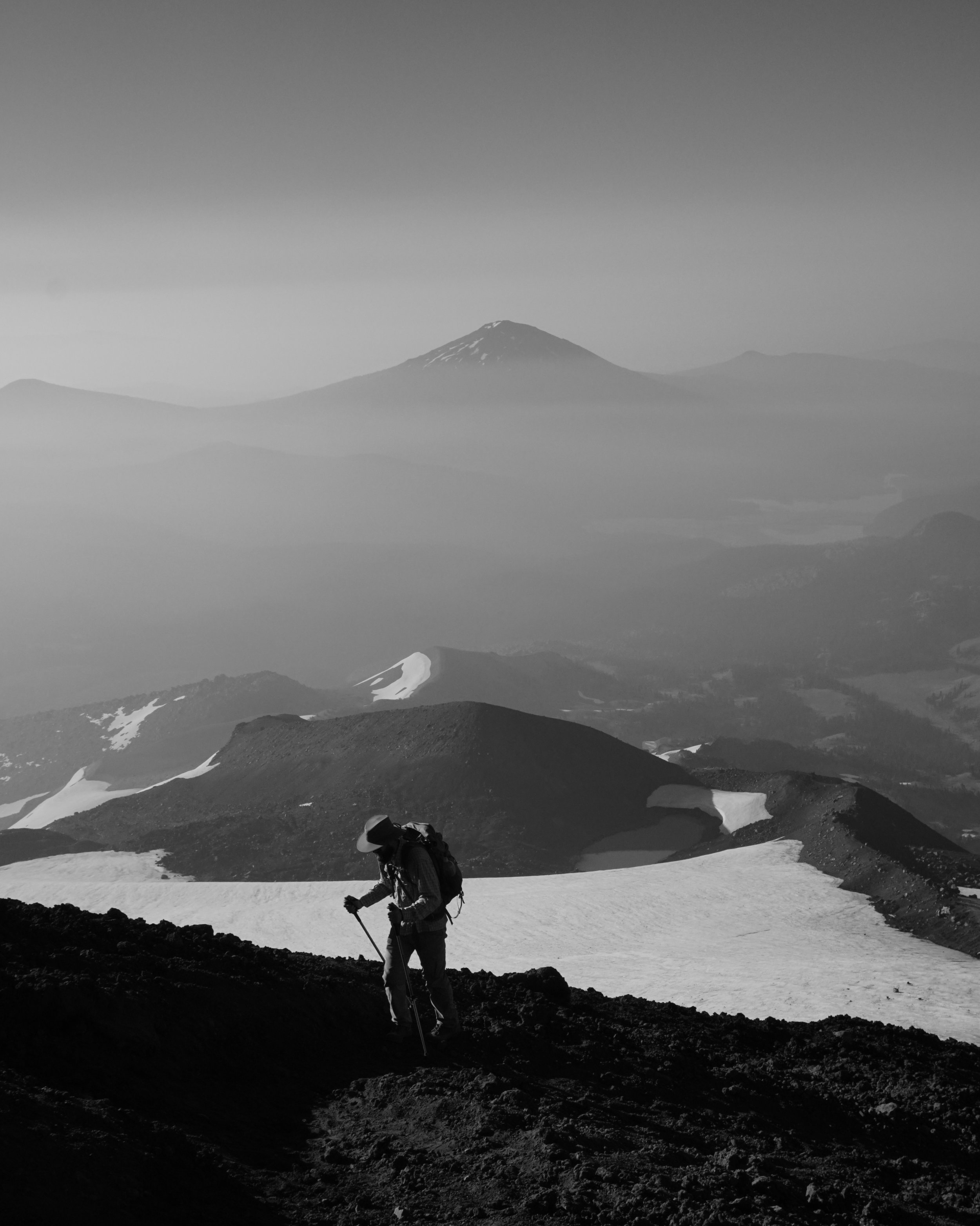 Climbing a volcano, South Sister, Oregon