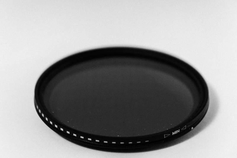 Variable ND filter. Very useful for video.