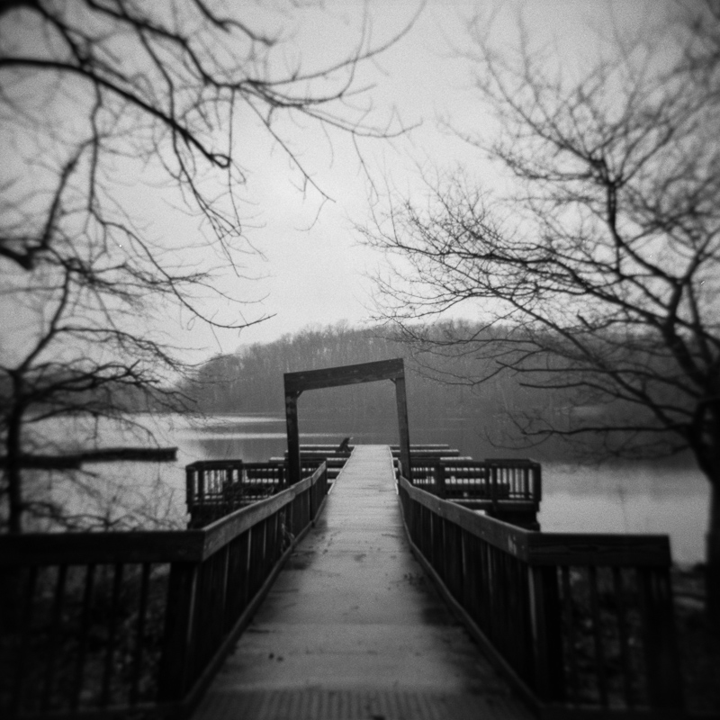 Dock, Chain O Lakes, March 2018