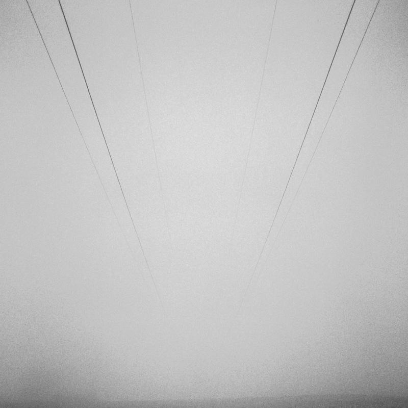 Power lines and fog, Kosciusko County, March 2018