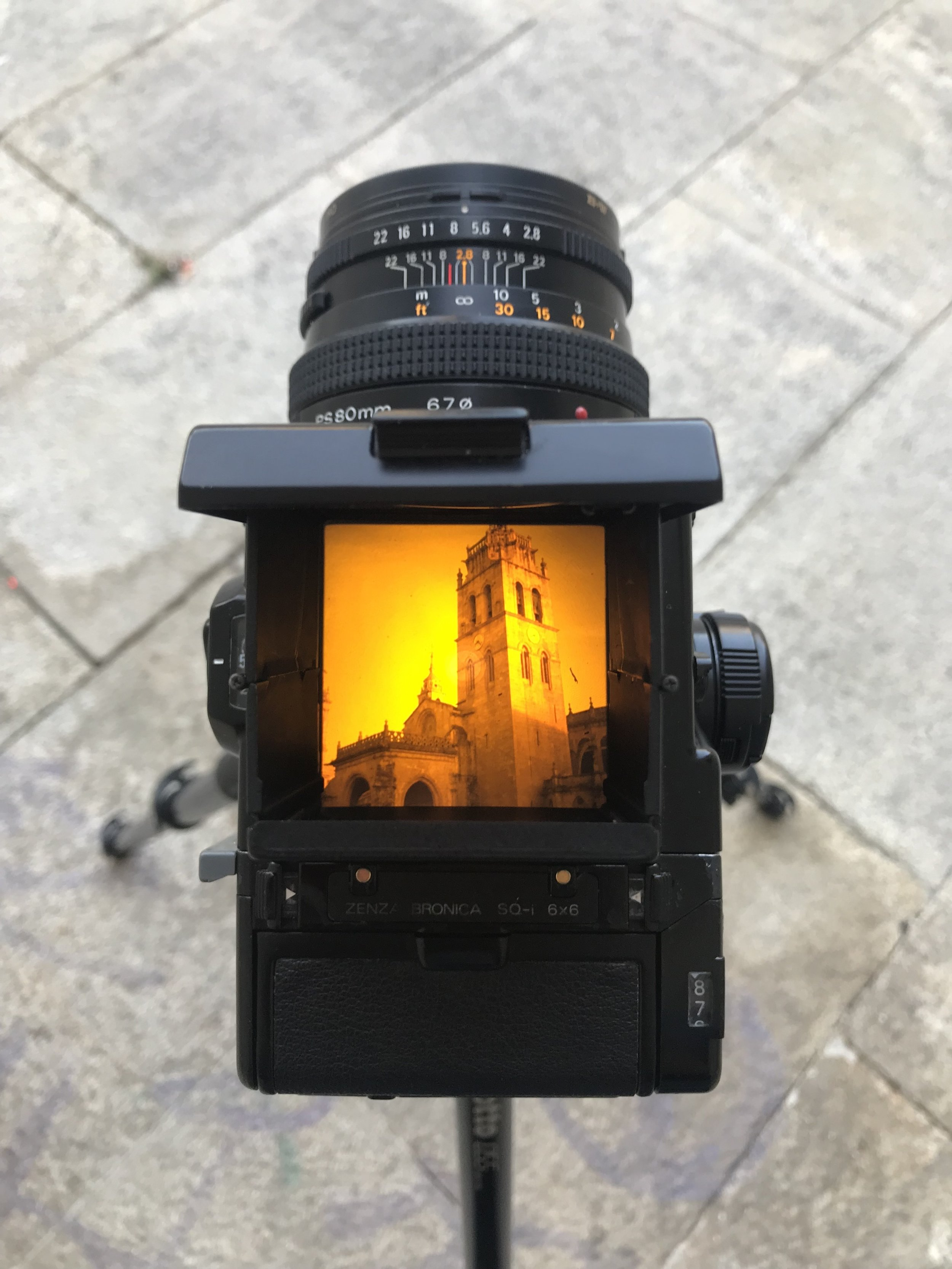 Cathedral, Lugo, through the viewfinder.