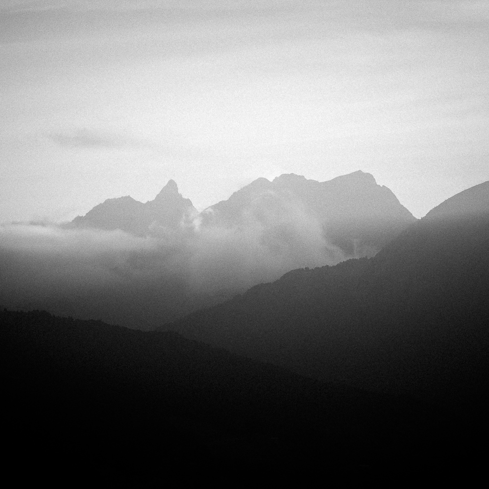 Peaks from Roc del Quer, October 2018