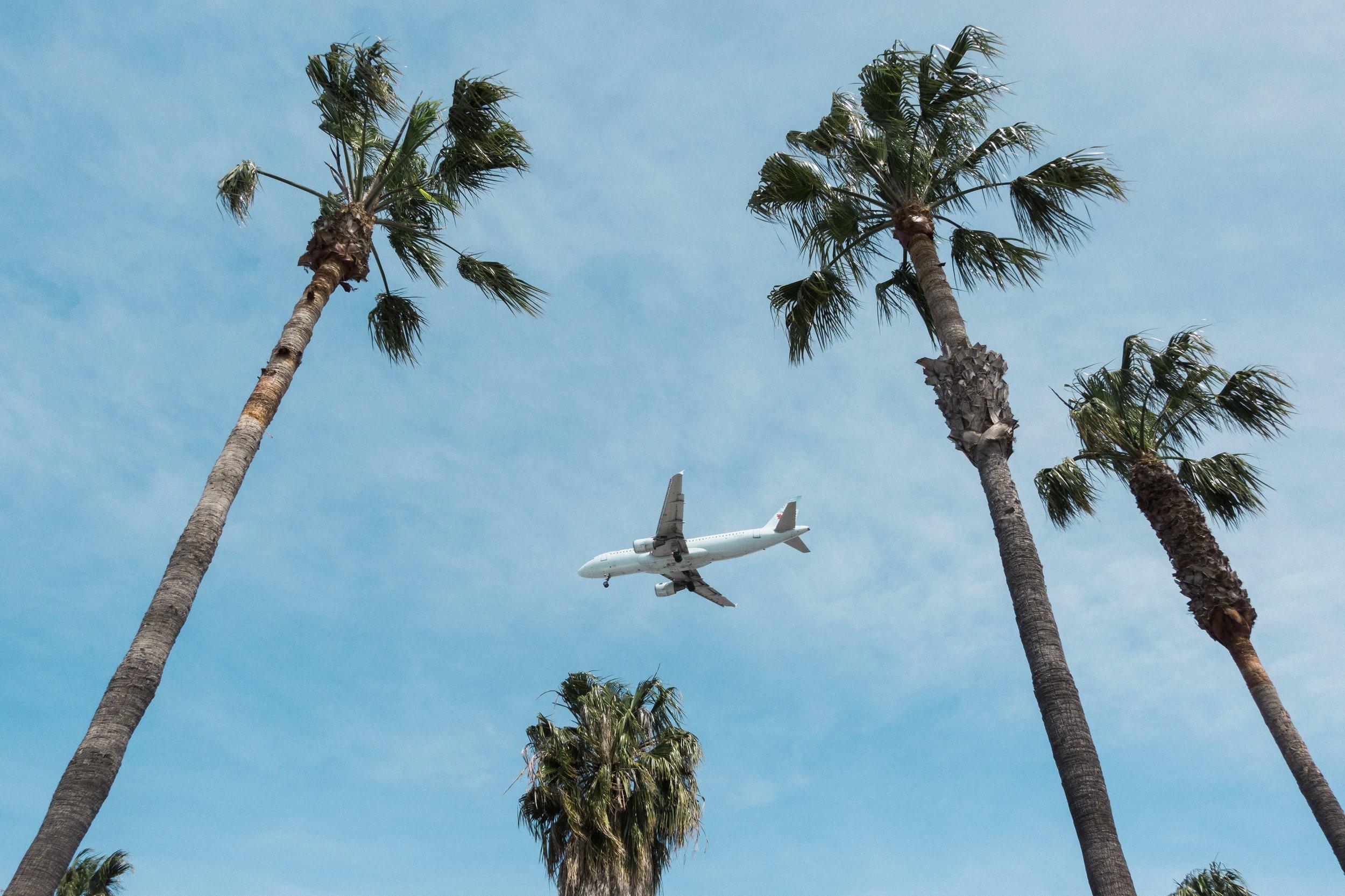 Plane landing near LAX