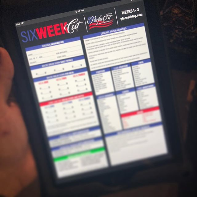 Sneak peak at a 6 week cut program we are working on for @pfncoaching . . #graphicdesign #production #graphics #fitness #fitfam #6weekcut #pfncoaching #design #layout #programming
