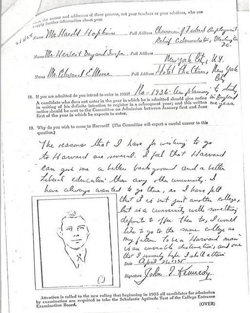 JFK Harvard Essay