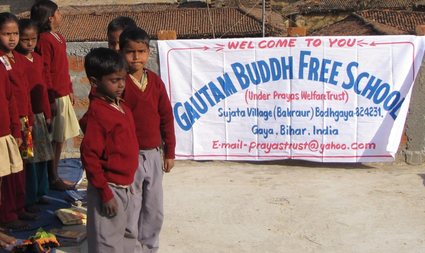 Gautama Buddha Free School - $50 Health check-up for the students$150 School uniform, books, bag for 1 child$200 Educate a child for a year