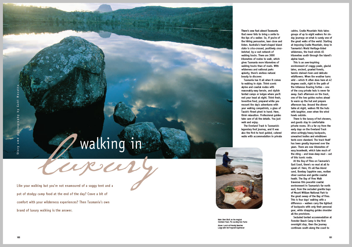 Vacations and Travel Magazine – Walking in Luxury
