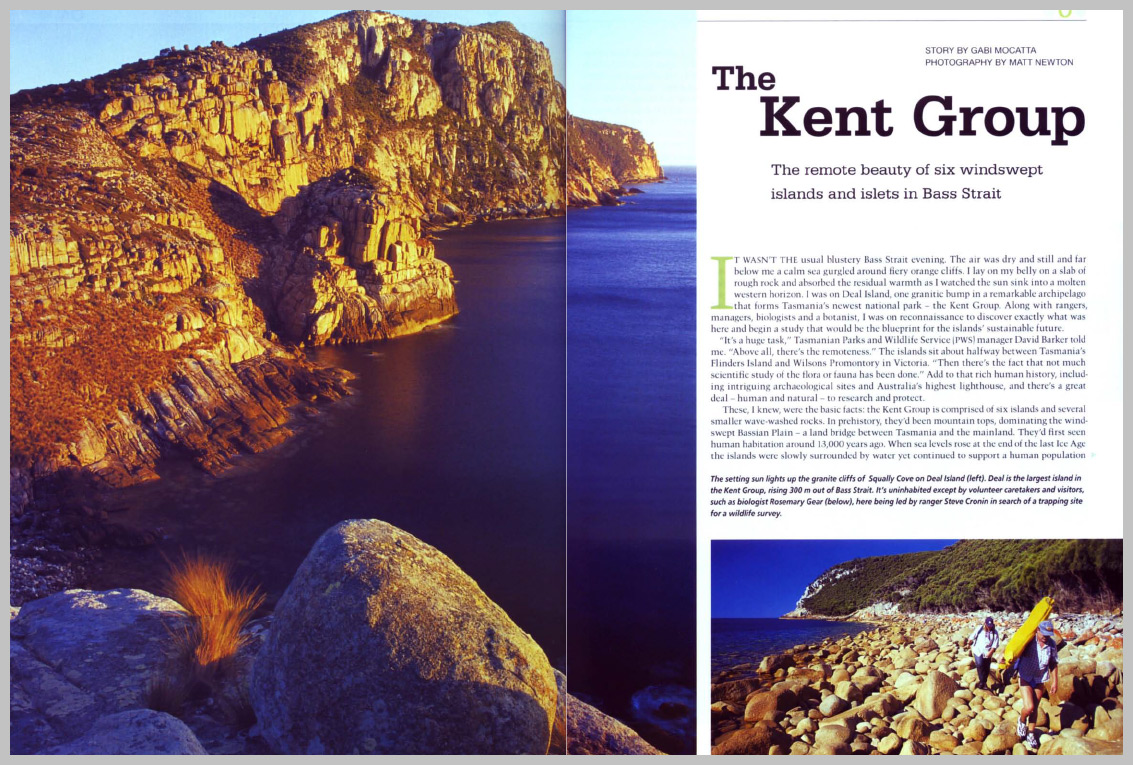 Australian Geographic – The Kent Goup