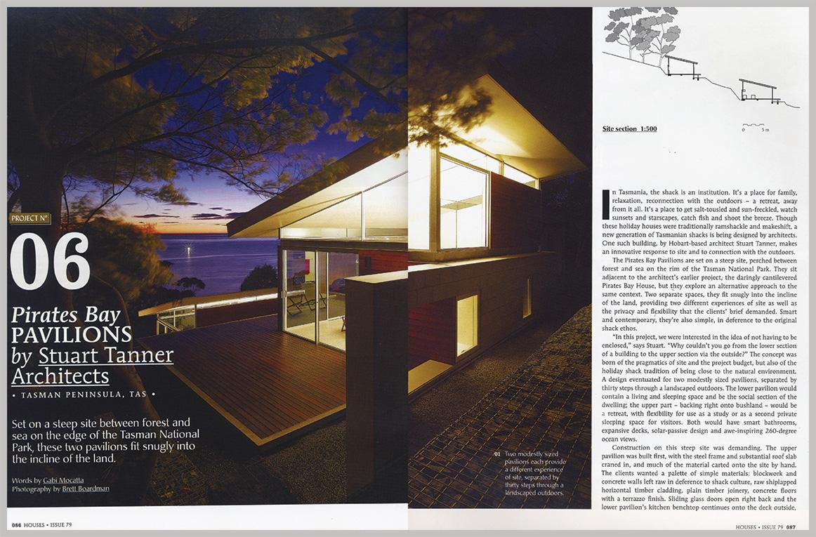 Houses Magazine — Pirates Bay Pavilions