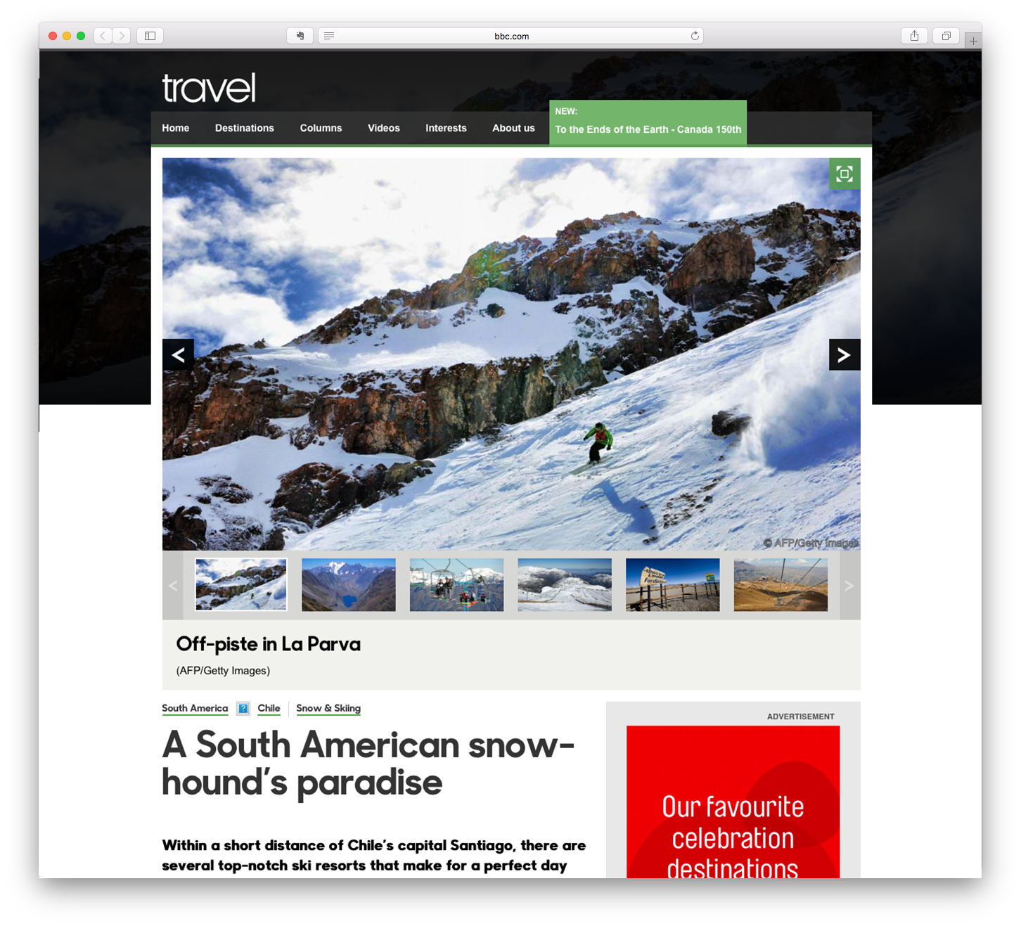 A South American snowhound's paradise