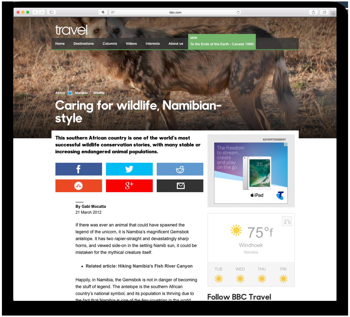 Caring for wildlife, Namibian-style