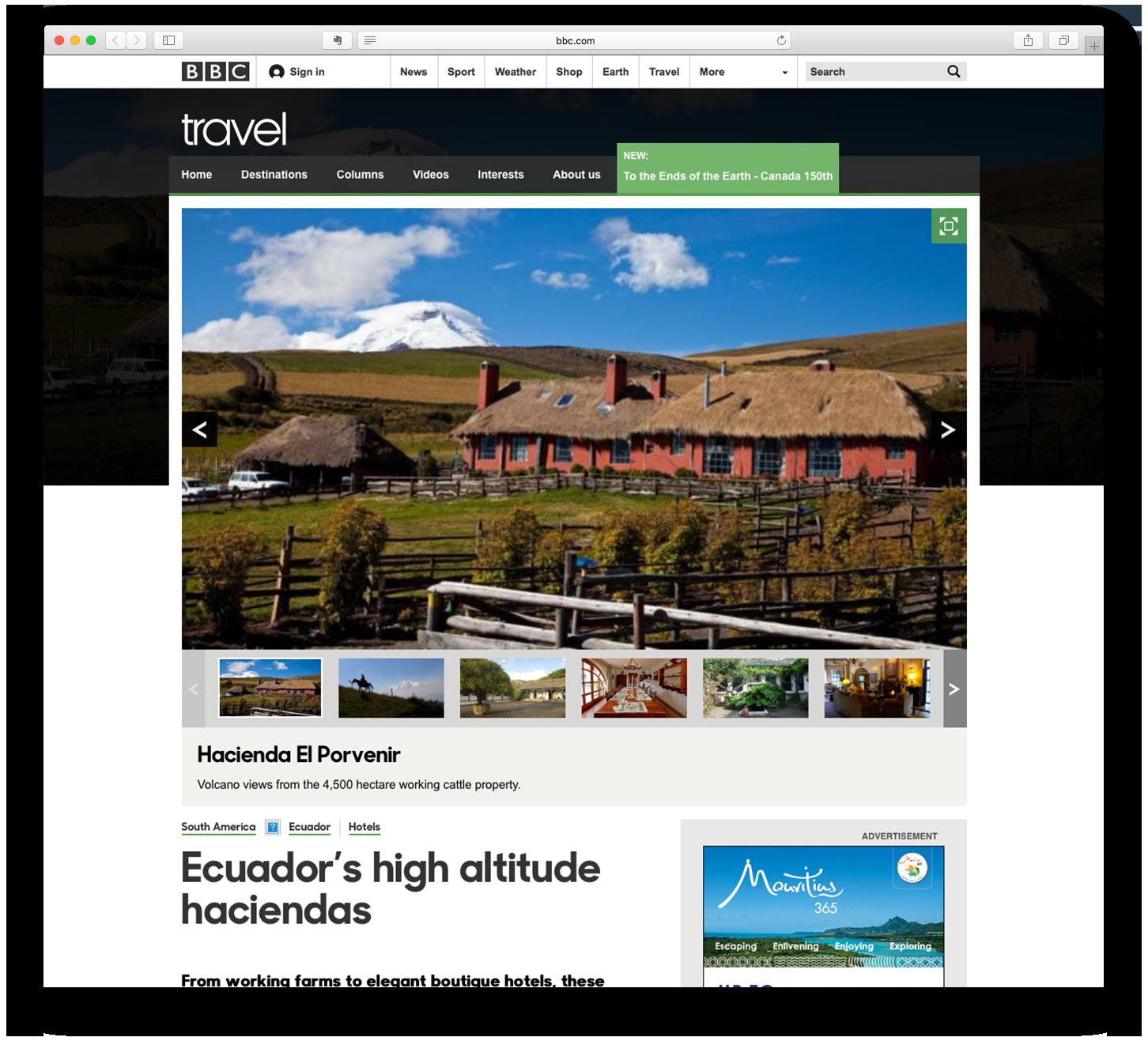 Ecuador's high altitude haciendas