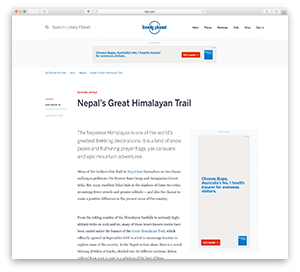 Nepal's Great Himalayan Trail — Lonely Planet