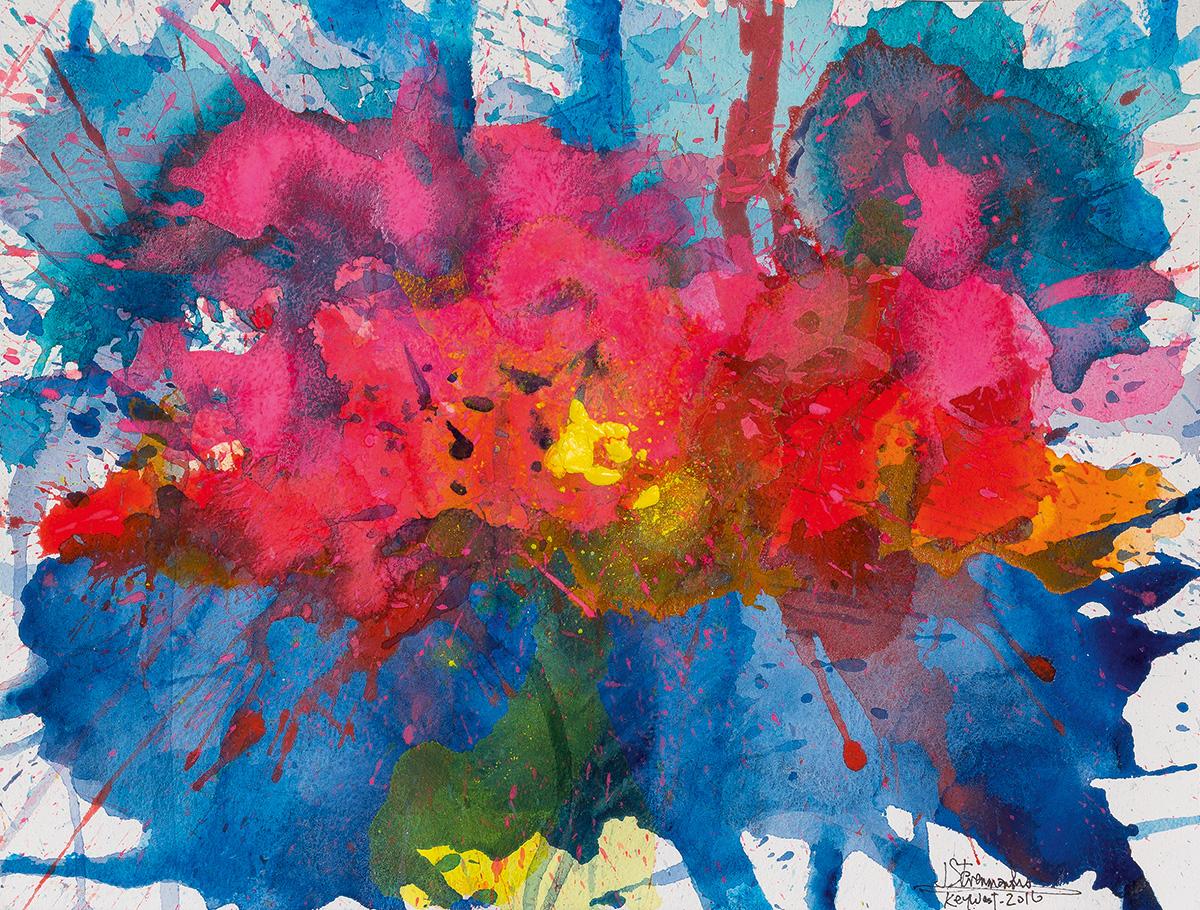 J.. Steven Manolis, Key West - Splash - Sunset, 2016, Watercolor, gouache & acrylic on Arches paper, 12 x 16 inches (30.5 x 40.6 cm).