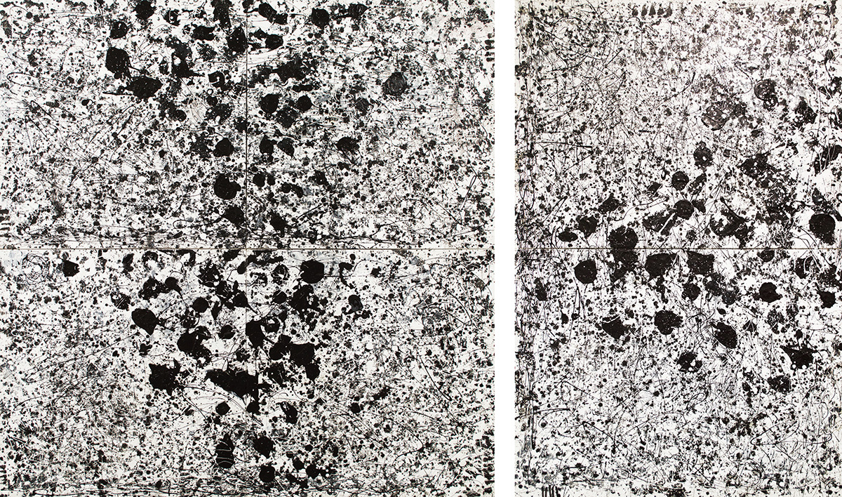 Black & White Diptych, 2016