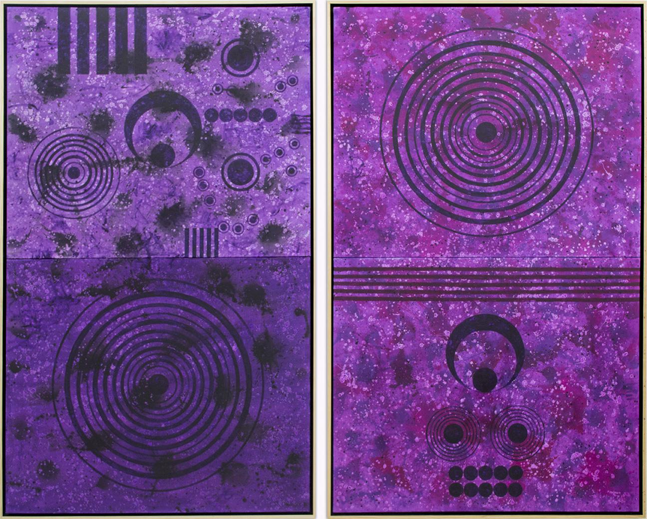 Purplefield (Masculine & Feminine); Diptych, 2017