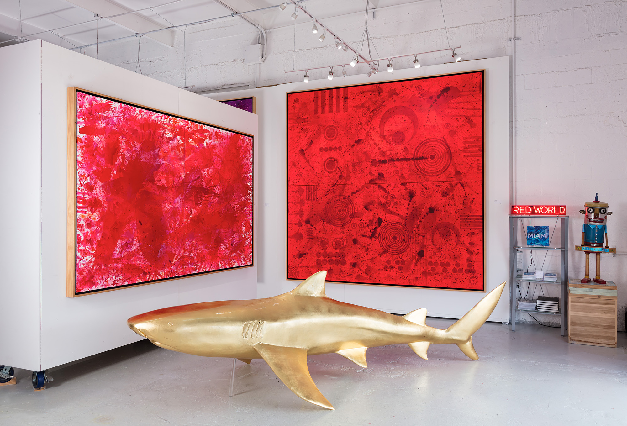 Redworld, 2015, Redworld Glaze, 2017 (left to right)