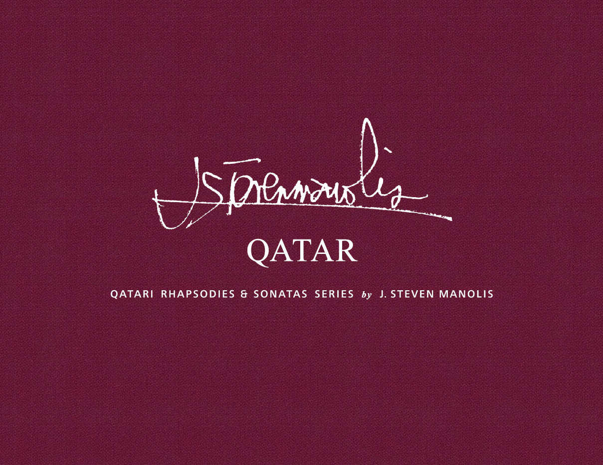 New Book by J. Steven Manolis' highlighting his  Qatari Rhapsodies & Sonatas Series  with critical essays by Donald Kuspit, J. Steven Manolis, Anthony Haden-Guest, Elizabeth Sobieski, and Bruce Helander.  Click to view