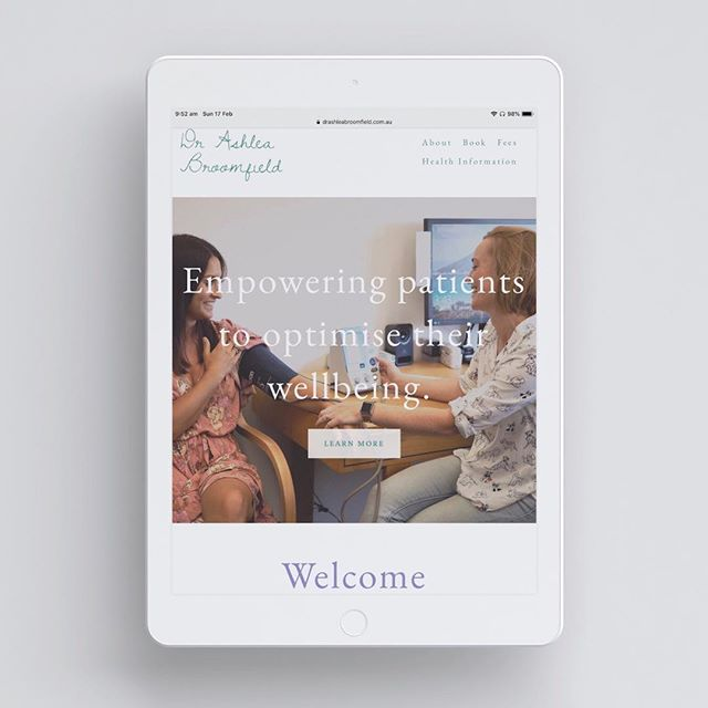 A really lovely, simple, professional yet friendly website for the wonderful Dr Ashlea Broomfield in Coffs Harbour. 🌸 Do you have a website for your business? Can you update your website yourself, from you mobile phone?! If not - perhaps it's time to get in touch with me! Email me or check out my website for more information 🌼