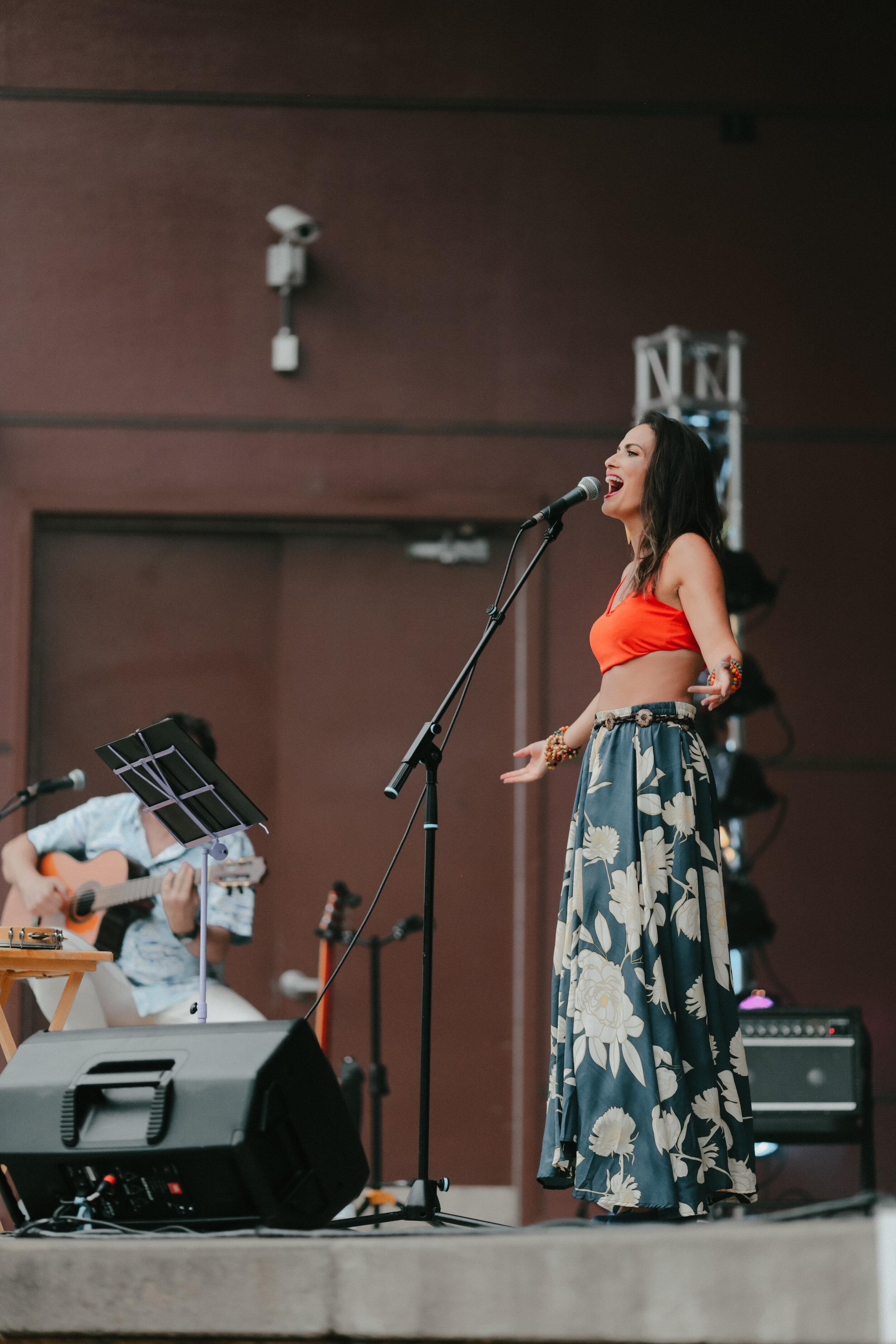 We bring a piece of Brazil - Bloomington festival, 2019, Photo by Carla Dimitroff.