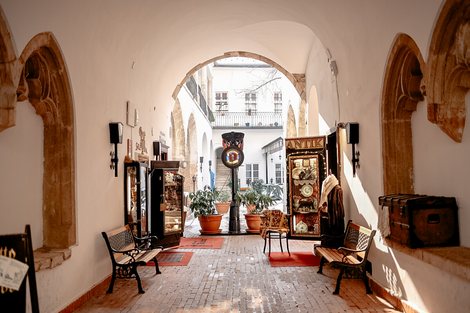 The cause of much of my money woes: a beautiful vintage shop in Budapest, Hungary.