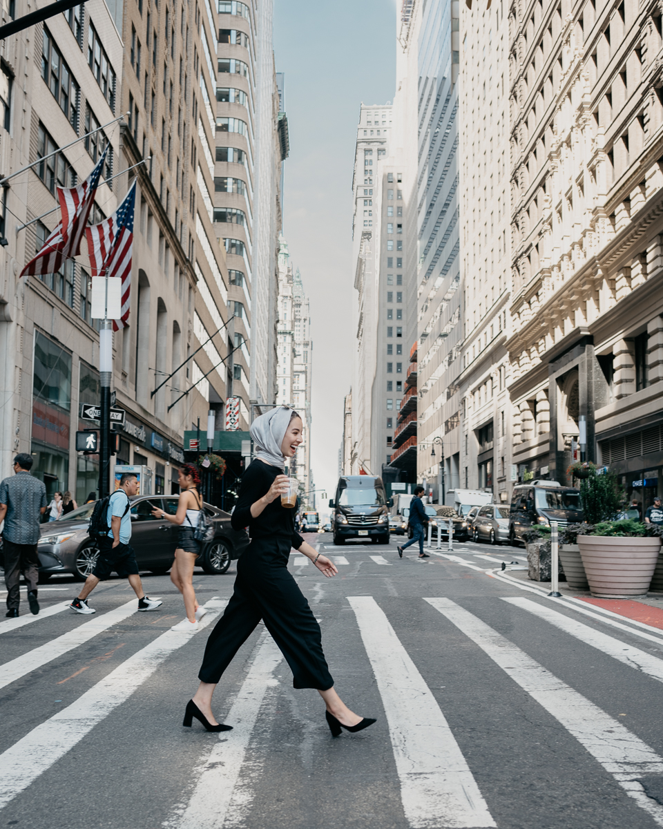 Just a quick stroll down Wall Street. My outfit:  Trousers  |  Heels