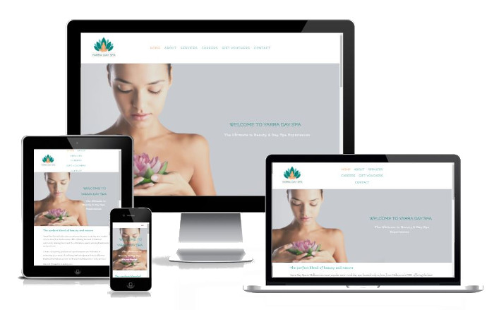 Yarra Day Spa - Website design and build, New business launch