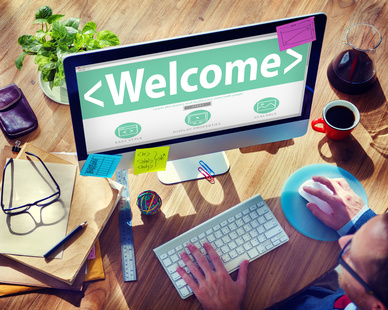 Welcome Greeting Happiness Enjoyment Expression Concept