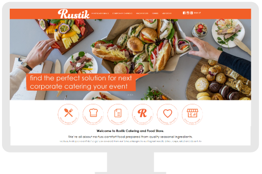 Small business website for food store