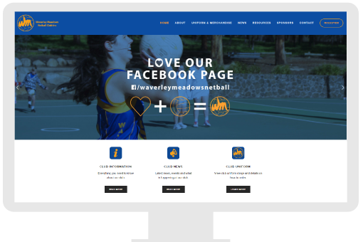 Small business website for sport club
