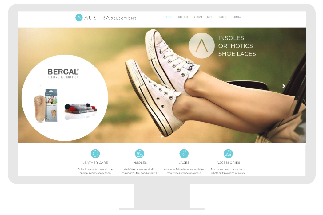 Small business website for shoe store