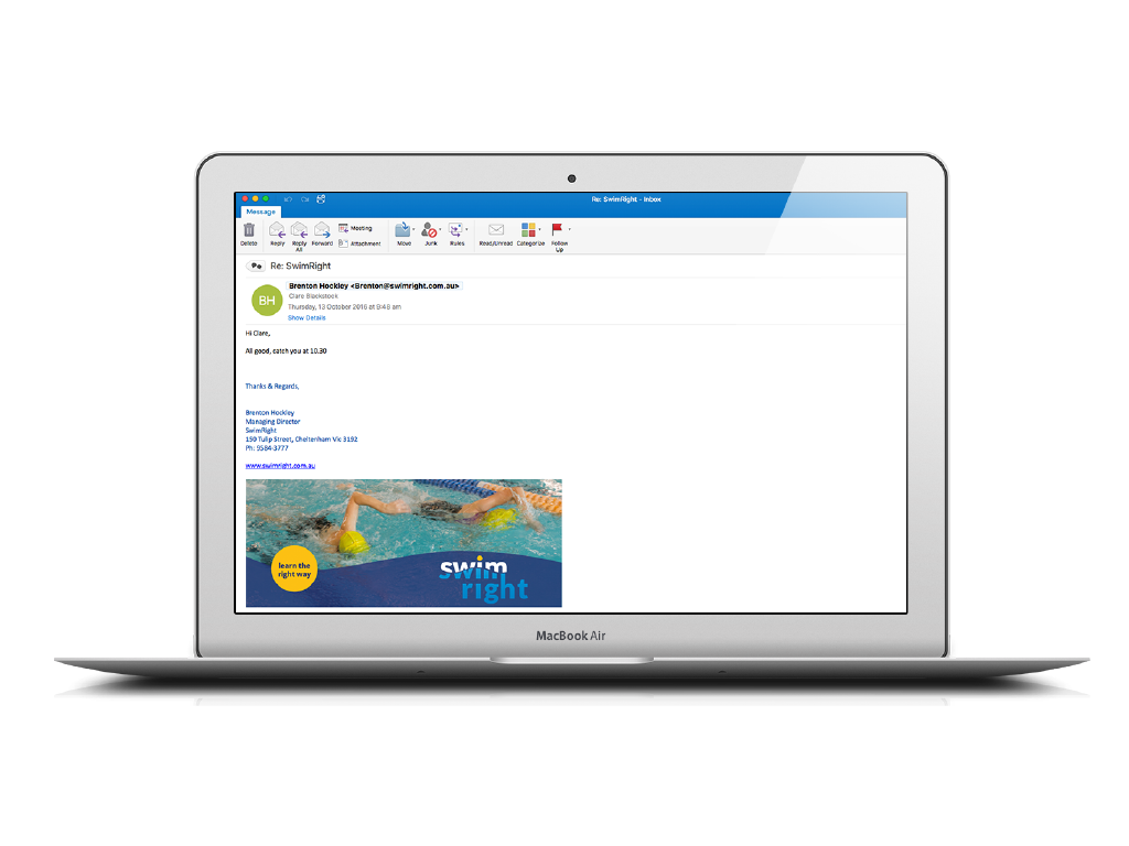 Example for email signature (SwimRight)