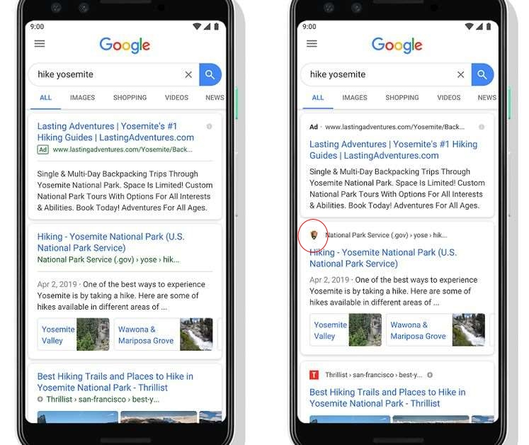 image by  https://www.theverge.com/2019/5/22/18635774/google-mobile-search-redesign-favicons-website-names