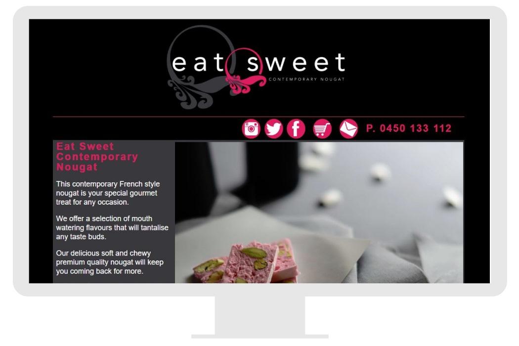 Eat Sweet Landing page 2014