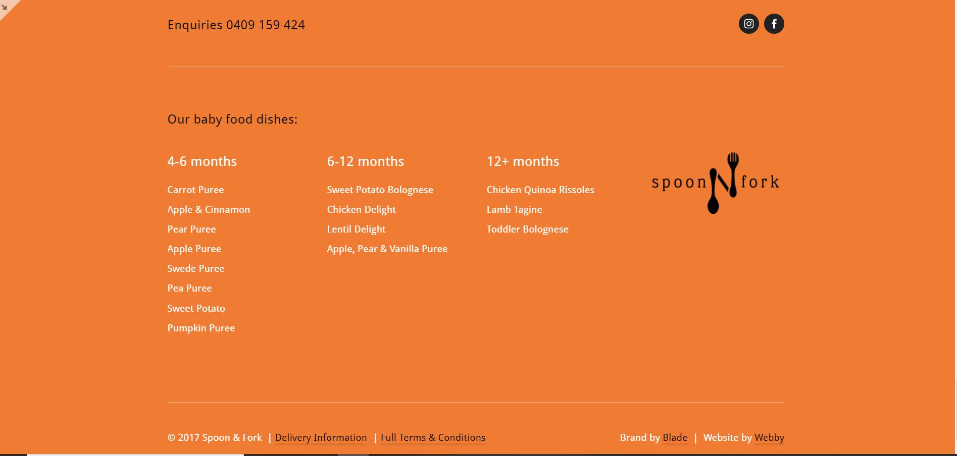 Soon N Fork (Squarespace website footer)
