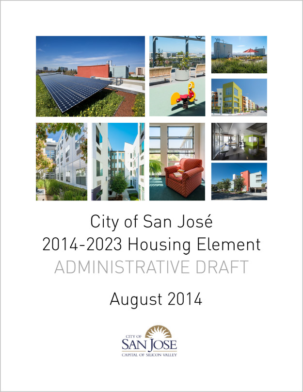City of San Jose    City of San Jose Draft Housing Element, Cover, August 2014