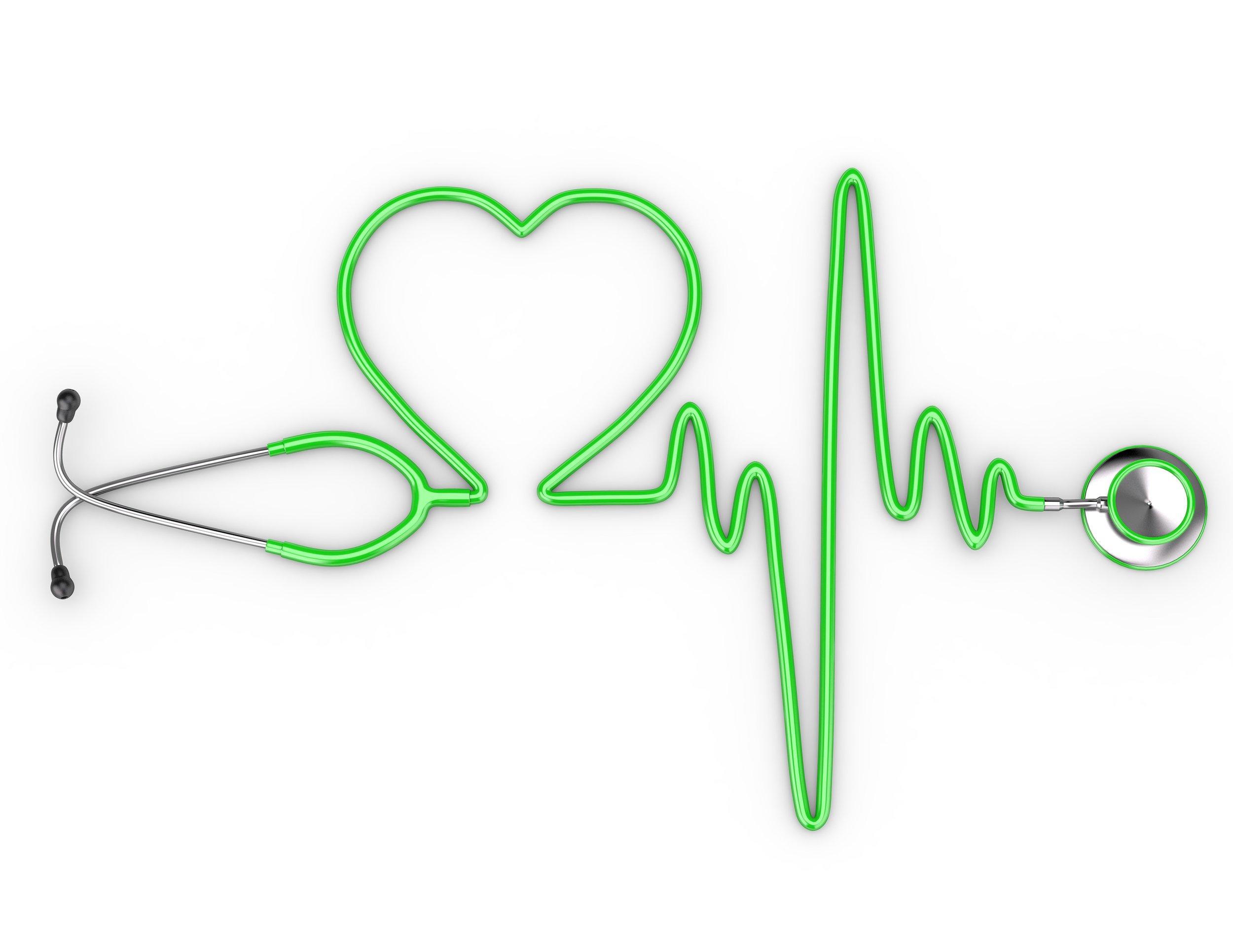 Heart Graph Line Shaped Stethoscope Medical Health Doctor.jpg