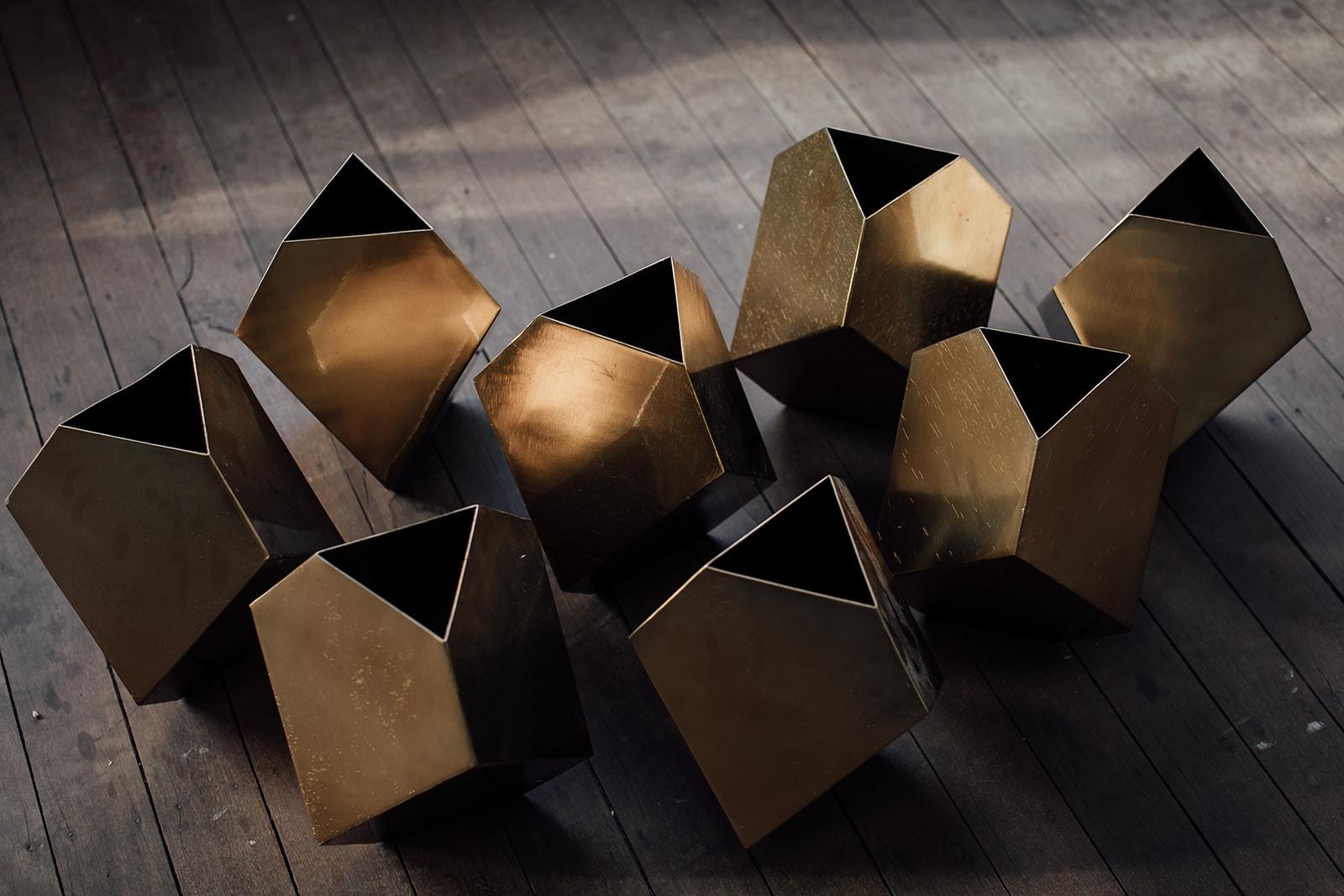 9 x gold matrix vase set - $20.00 each or $135.00 for the set