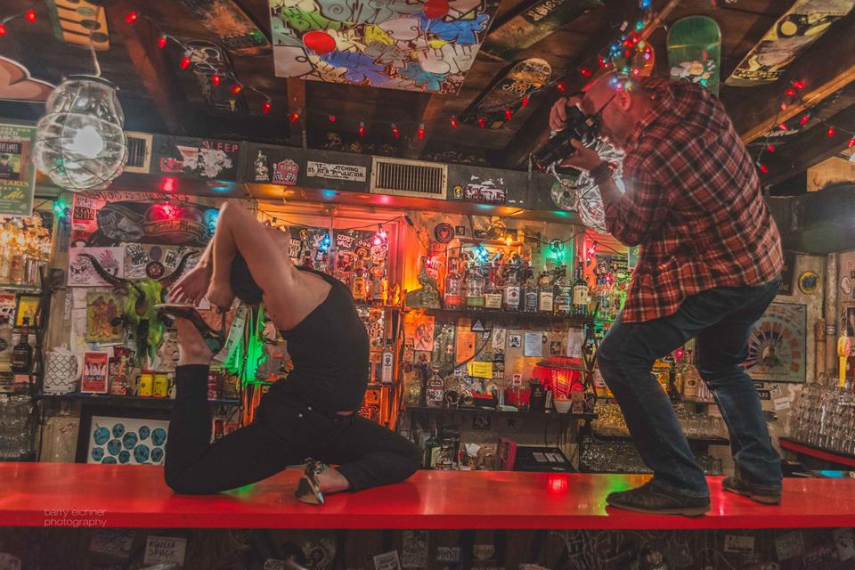 On the bar with Steph - Photo by Barry Eichner
