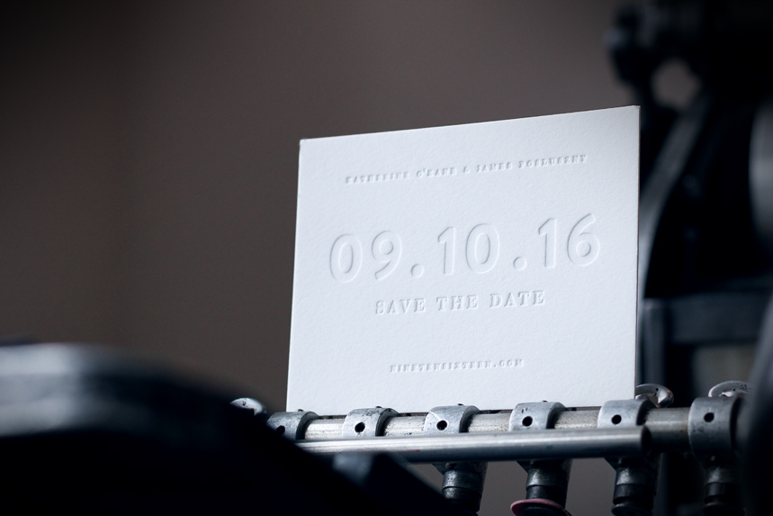 affordable letterpress save the dates