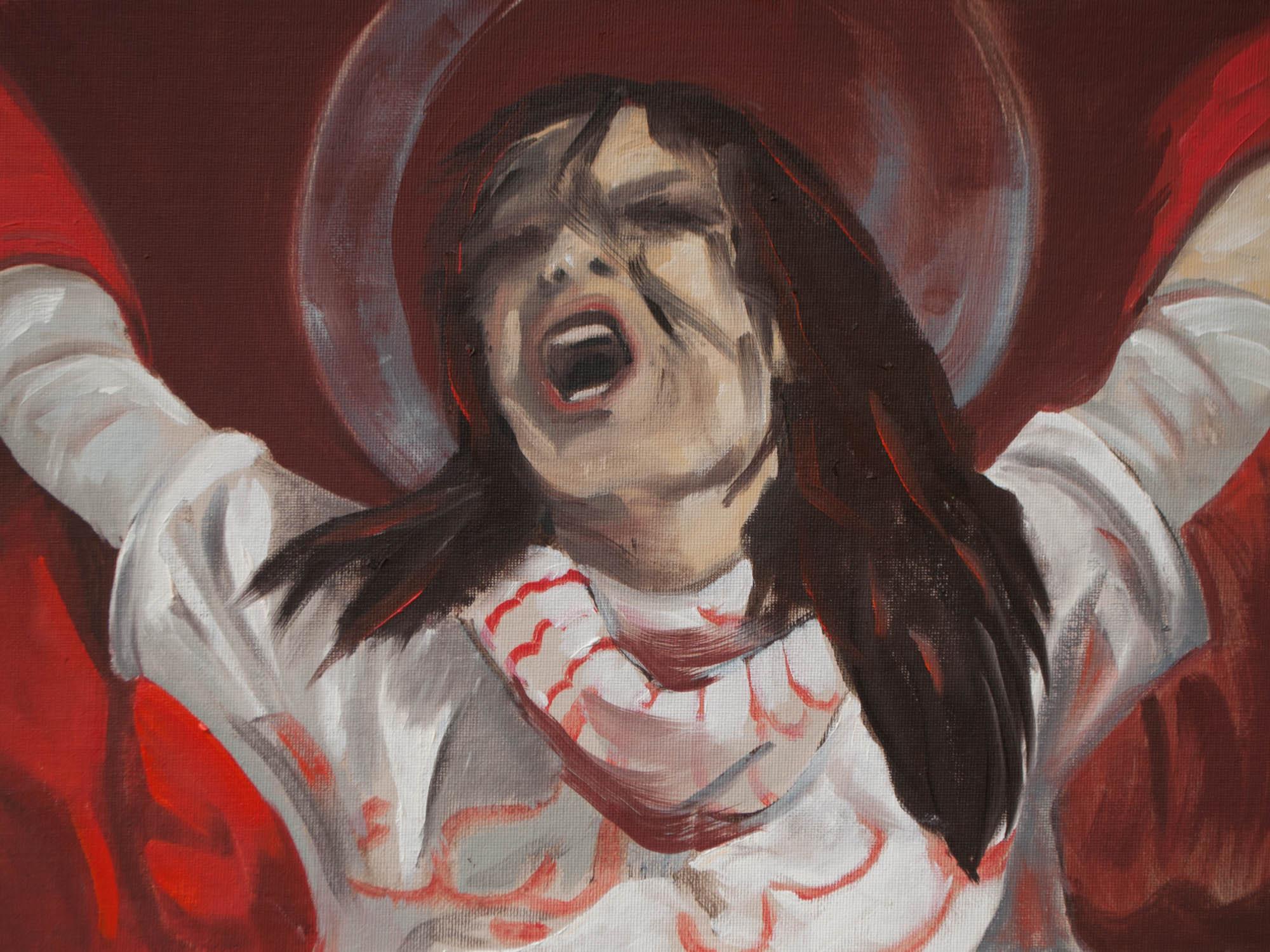 """Sacrifice / Syria, 12"""" x 16"""" Oil on Canvas Board, 2012"""