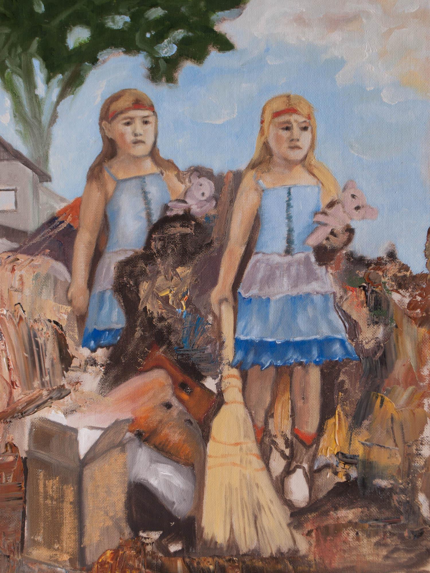 """Russia Adrift/ Russia, 16"""" x 12"""" Oil on Canvas Board, 2013"""