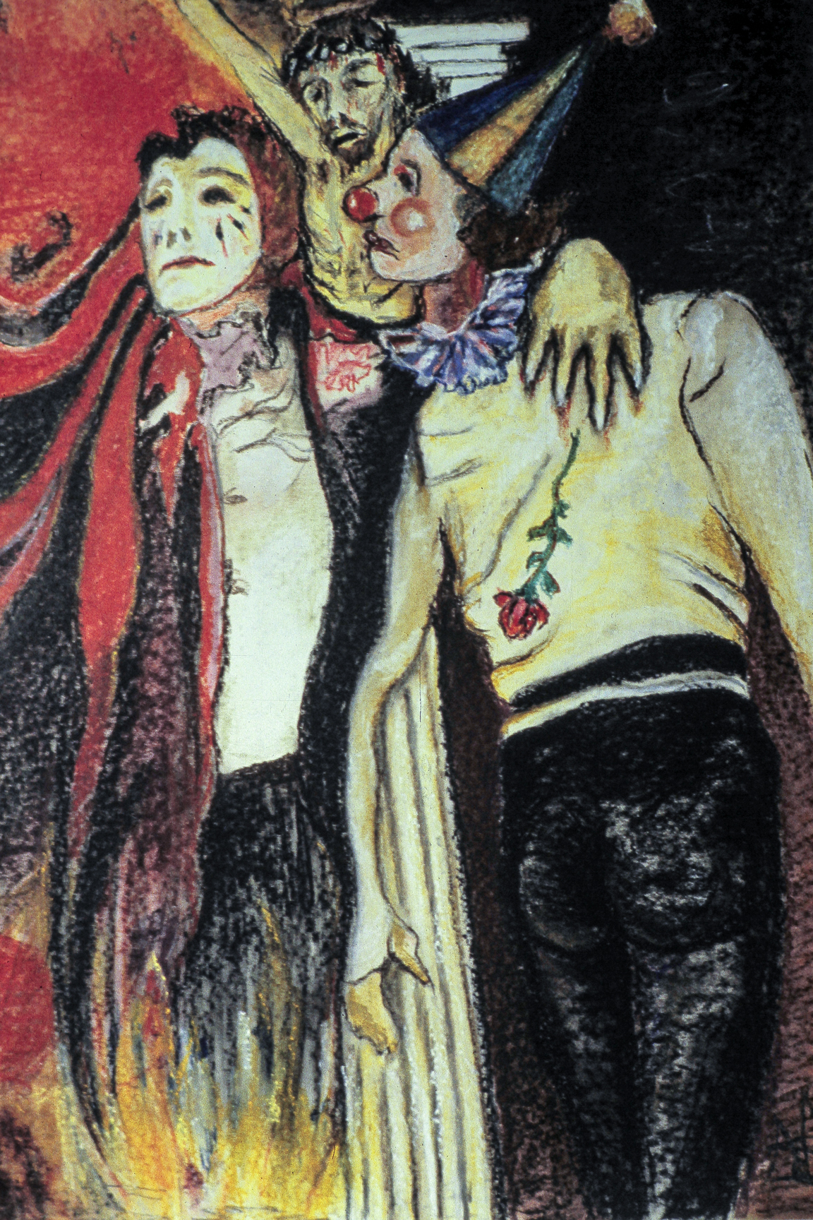 The Joker, 24 x 18 Pastel on Paper, 1977